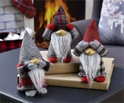 Santa Figurines Hear, See, and Speak No Evil