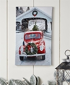 LED Truck Winter Scene Wall Art