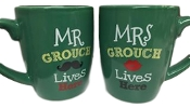 Mr and Mrs Grouch Live Here Mug Set