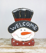 Welcome Snowman Head