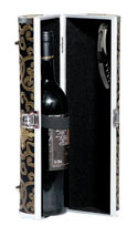 Black and gold wine tote purse