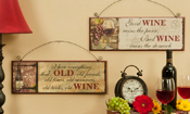 Giftcrafts Set of Two Wine Lovers Wall Signs