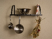 Wall Mount Pot Rack/Shelf