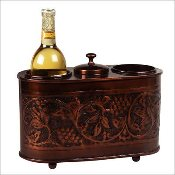 Antique Embossed Two Bottle Wine Chiller
