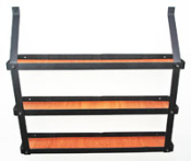Three-Tier Spice Rack: Black and Natural Wood