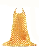 Orange Polka Dot Pattern Apron