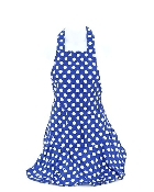 Blue Polka Dot Pattern Apron