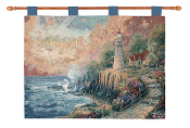 Thomas Kinkade The Light of Peace Cotton Tapestry