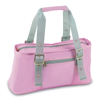 Alexis - Pink w/Grey Trim Lunch Purse Cooler