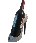 Wild Eye Silver Glitter High Heel Wine Bottle Caddy