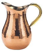 Copper Water Pitcher with Ice Guard