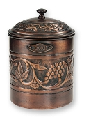 "Antique Embossed ""Heritage"" Cookie Jar"