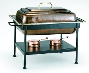 Antique Copper Chafing Dish, 8 Qt
