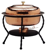 Décor Copper Chafing Dish, 6 Qt