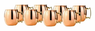 Solid Copper Moscow Mule Shot Mugs