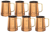 Copper Tankard with Brass Handle