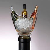 Acrylic Mini Wine Chiller Bottle Stoppers - Set of Three
