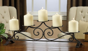 GiftCraft Iron 5 Pillar Candle Holder