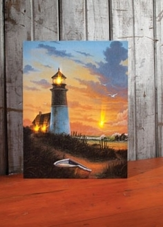 Lighted Lighthouse Canvas