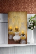 Lighted Oil Lamps Canvas