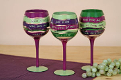 Hand Painted Large Wine Glass -