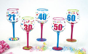 Birthday Years Wine Glasses