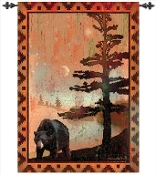 Bear in Tree Hanging Wall Art