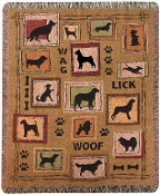 Dog to the Rescue Manual Woodworkers and Weavers Tapestry Throw