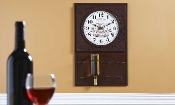 Chateau Bordeaux Wall Clock Wine Rack