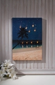 Starry Night Lighted Beach Canvas