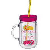 Fabulous and Flirty Double Walled Mason Jar