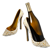 Bridal Shoe Polystone Bottle Holder