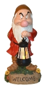 Grumpy Lantern Statue- LED Lighted