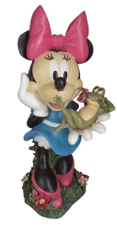 Minnie with Frog Friend Statue