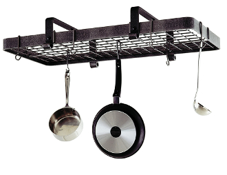 Low Ceiling Rectangular Pot Rack with Grid