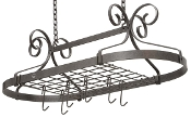 Décor Oval Hanging Pot Rack Knock-Down Version