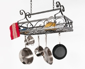 Décor Basket Hanging Pot Rack, Large and Small