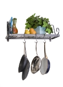 Décor Bookshelf and Wall Mounted Pot Rack