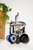 Half Moon Wall Mounted Pot Rack