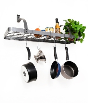 Large Bookshelf Pot Rack