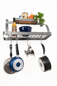 Bi-Level Bookshelf Pot Rack