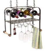 Hanging Wine & Accessories Rack