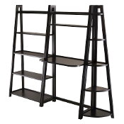 Adam 3pc Desk Shelf Set, 5-Tier Shelf and Corner Shelf