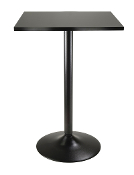 Pub Table Square Black MDF Top with Black leg and base