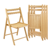 Set of 4 Folding Chairs (89131)