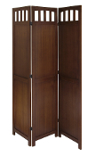3-Panel Wood Folding Screen