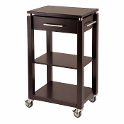 Linea Kitchen Cart with Chrome Accent