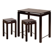 Linea 3pc Pub Kitchen Set, Island Table with 2 Stools