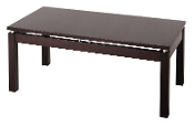Linea Coffee Table with Chrome Accent