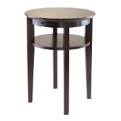 Amelia Round End Table with Pull out Tray